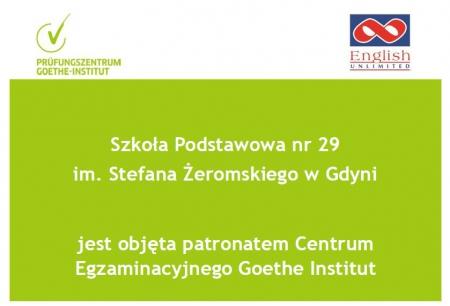 SP29 pod patronatem Centrum Egzaminacyjnego Instytutu Goethego