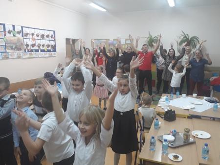 Spotkanie integracyjne w klasach  1a i 1b